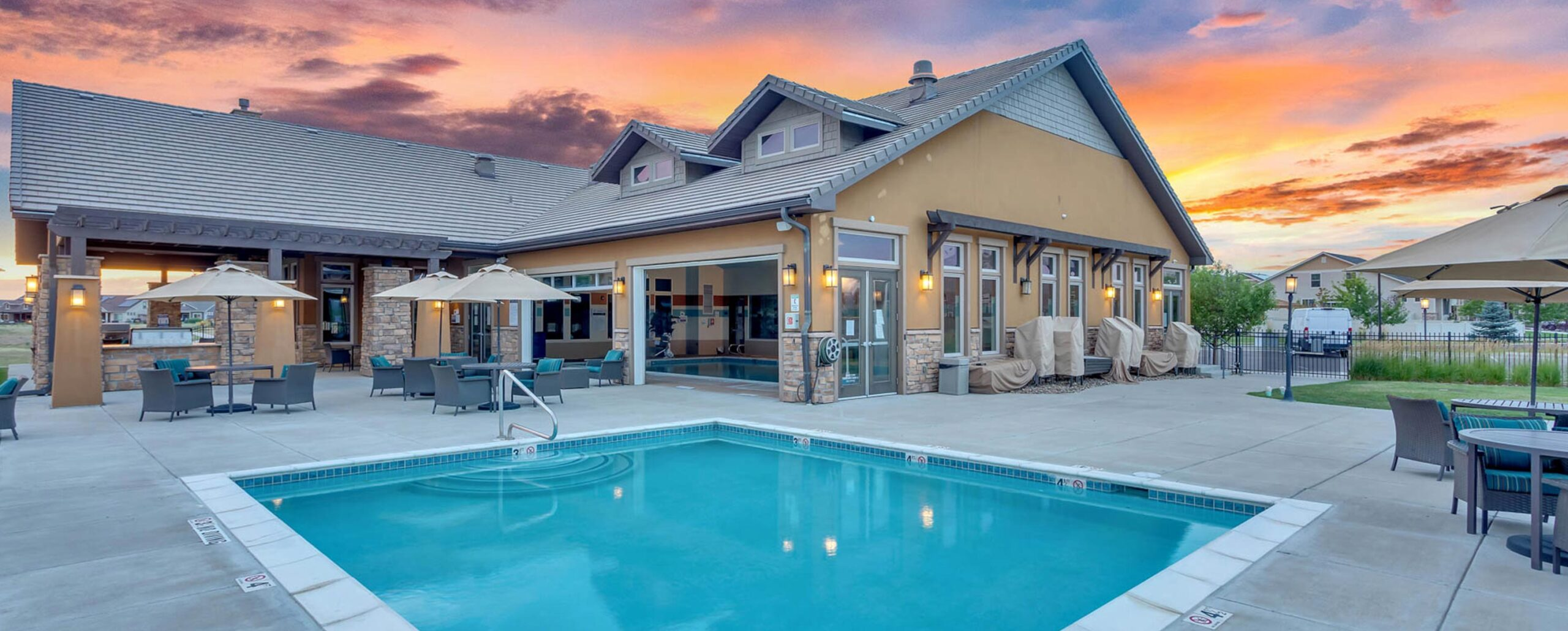Clubhouse and Pools